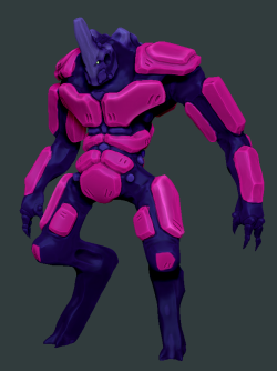 Big Mech - Zbrush WIP, dynamesh and polypainting