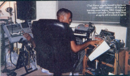 "yeezyfan:    Kanye school himself in his home studio, 1997.  ""Lock yourself in a room doing 5 beats a day for 3 summers. That's a Different World, like Cree Summer's. I deserve to do these numbers. The kid that made that Deserves that Maybach So many records in my basement I'm just waiting on my spaceship…""  <3"
