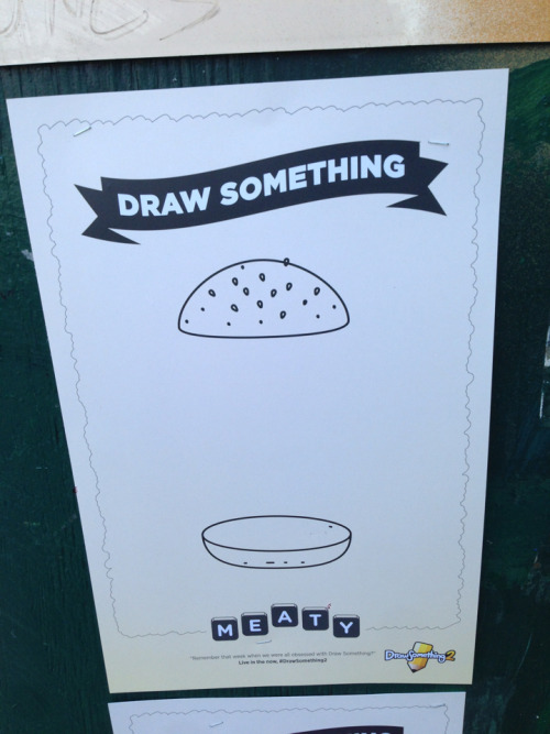 POSTER IDEA;  Draw Something 2 invites viewers of its new wild poster campaign to add their artistic flourishes.  Nice idea - be good to aee a larger extension to the it : a billboard, a pop gallery, Instagram showcase, a few cool artists takin part etc.,