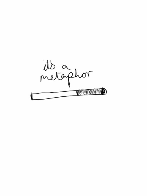 """It's a metaphor, see: You put the killing thing right between your teeth, but you don't give it the power to do its killing."""