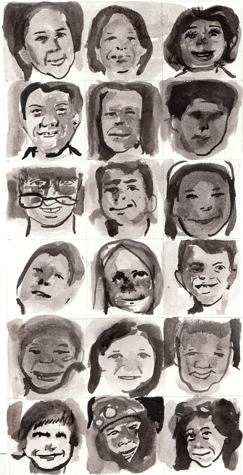 withapencilinhand:  America's Dunblane 18 ink portraits of victims of the Sandy Hook Elementary School shooting in Newtown, Connecticut