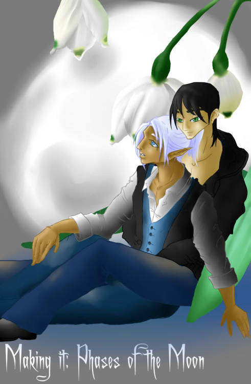 Here is Emil Night and Rei Ishida under the Snowdrop moonlit night. I had to redo the cover it was screaming at me. So I hope you like it and hopefully next month I will have the next page up.  http://makingit.smackjeeves.com/comics/1657300/cover-page-phase-1/