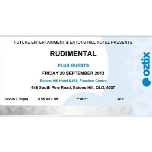 I am now $61.20 poorer. #rudimental #brisbane #september #keen #ticket #livemusic #latenightimpulsebuy