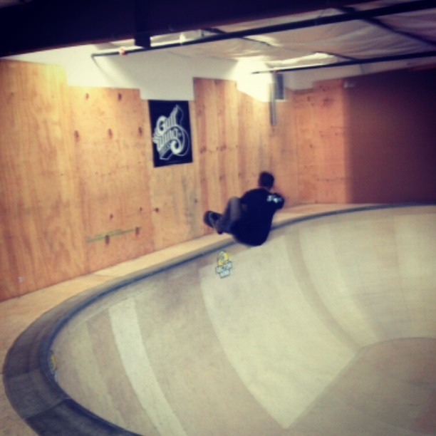 Frontside indy at the bread bowl