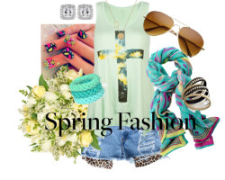 Spring Fashion 2013 by christine-0701 featuring lacosteFull Tilt  / Lacoste  / Bar III studded bracelet / Saako turquoise bracelet / Stella & Dot  / Aviator sunglasses / Jayson Home Cream Spring Flowers in Burlap Vase / Peekaboo Cheetah