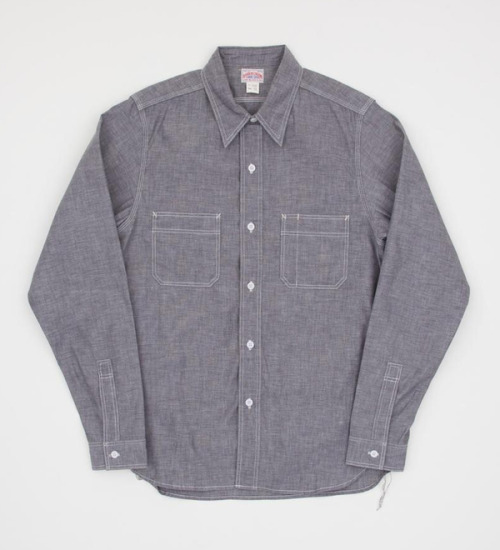 free-man:  Joe McCoy 8HU Grey Chambray Service Shirt