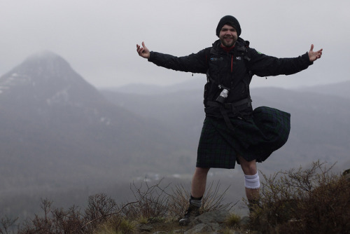 kiltedpride:  A man hiking in a Scottish kilt on Hakken-zan mountain near Jozankei, Hokkaido, Japan by Robert Thomson on Flickr.Via Flickr: It ought to be clarified that this man did not have any underwear on….in true Scottish fashion.