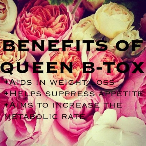 Just some of the benefits of Queen B-TOX! Shop yours online and start your journey today at www.queenbofficial.com x