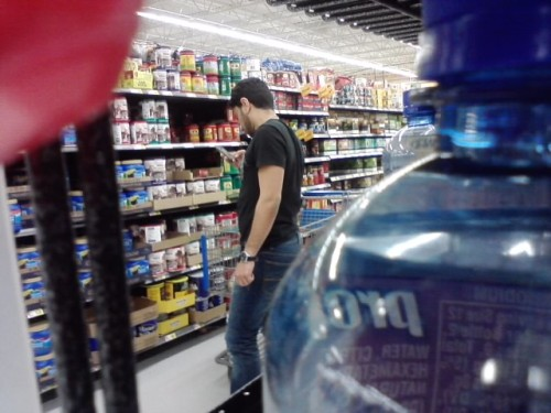 Caught this guy take pictures of all the coffee at Walmart. When I first saw him he was on the floor getting close-ups. -whack-for-the-toora-loora-laddy
