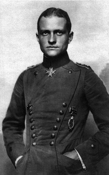 "fuckyeahhistorycrushes:  Manfred von Richthofen, 1892-1918 You probably know this guy. But let's talk about him anyways. Because honestly. The Red Baron? You can't get much better than this. Not only does he have an excellent brand of frozen pizza named after him, but this badass motherfucker is generally accepted to be the best ace fighter of the entirety of World War One, having won (officially, it could be more for all we know, this fucker was sly) 80 air battles. Richthofen was born into the Prussian aristocracy, and while in some countries being nobility means lying around on cushions being fed grapes all day in Prussia they get shit done and our boy Manfred began his military training at eleven. When WWI began Richthofen signed up with the cavalry, but one day he saw a plane and was all 'that looks nice' and joined the air service. He didn't really expect to get in but apparently those recruiters could sense the badass in this guy just waiting to claw its way out and they admitted him. Richthofen was initially not an awesome pilot, and crashed on his first flight, which only goes to show that the whole 'if at first you don't succeed' thing is not total bullshit because a few months later he shot down his first plane and apparently decided never to stop shooting stuff. And so you might think of the Red Baron as a brutish dude barrelling around firing randomly but my friend, you are mistaken. Richthofen was one tactician to rule them all and he basically rocked the proverbial socks off of any plane that came near him. And plus, he took measures to make sure he and his fellow pilots were as safe as they could be. Although he is most well-known on his own, he was an excellent squadron leader of his men, who were nicknamed 'The Flying Circus'. Whatta guy. Richthofen was finally shot down in April of 1918, taking a bullet to the chest, and despite his heart/lungs/general vital organs failing, managed to make a nicely controlled landing amid an Australian regiment. His plane wasn't even damaged, despite Richthofen, you know, DYING as he landed it. Serious props. So he shot down about 80 Allied planes, but the respect demanded by Richthofen's sheer badassery was so universal that the Australian unit buried him with full military honours and ceremony. You don't just put ""To Our Gallant and Worthy Foe"" on the tombstone of any old dude. This one was special, man. I would list all of his medals but they would make you feel insecure and inadequate because please. Can't touch this."