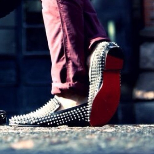 The #Rollerboy - Only my FAVOURITEST shoe in the world. Mr Louboutin, you know how to make a Trashy yet FKN Classy #Shoe #Louboutin #Stud @louboutinworld @christianlouboutinnyc