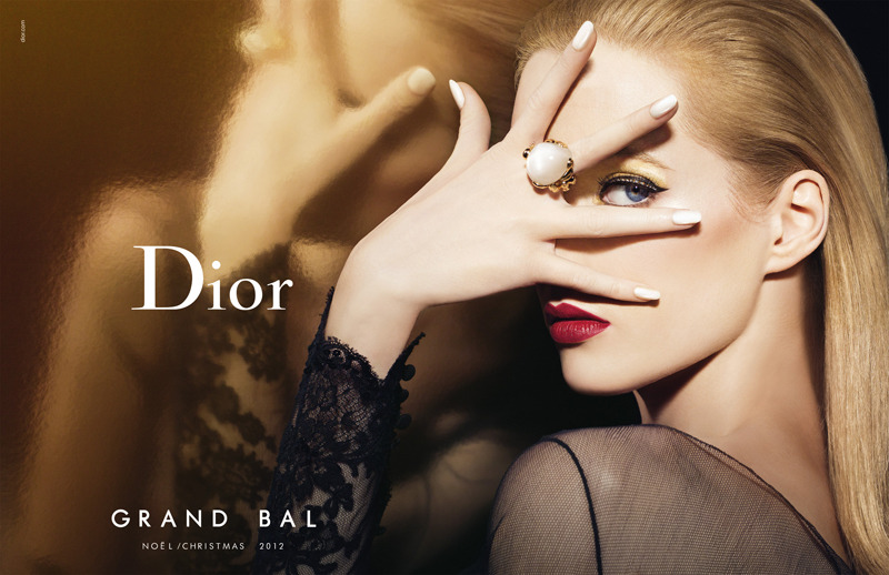 Daria Strokous for Dior Grand Bal Christmas Make-up Holiday Campaign.