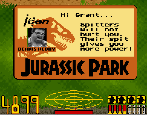 As it's April Fool's Day, here's Nedry being a dick in the SNES Jurassic Park game.