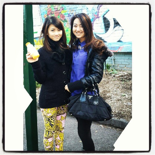 With @iamcarren (at South Melbourne Market)