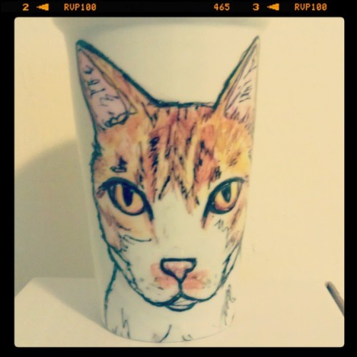 custom kitty mug. meow.