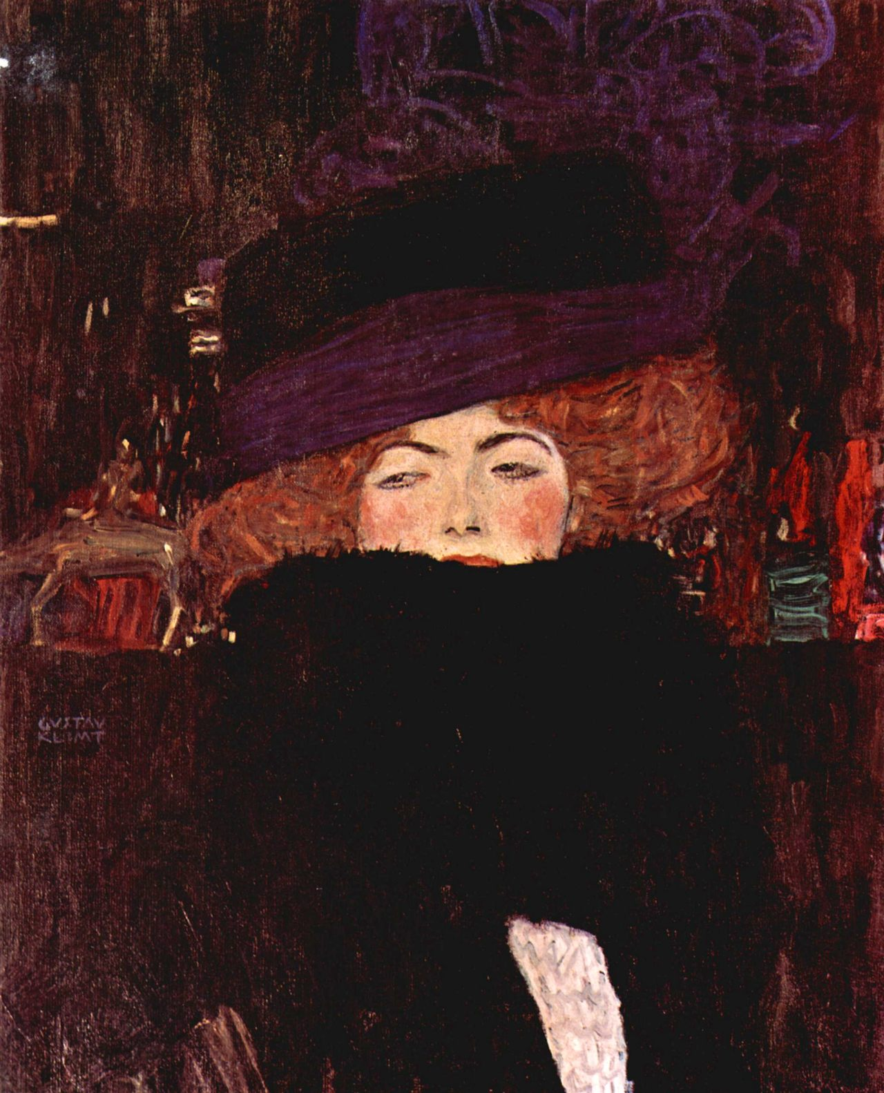 theartgeeks:  Lady with Hat ~ Gustav Klimt