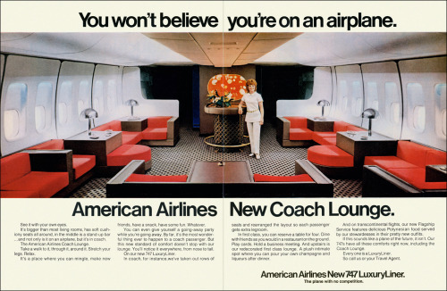 May 1971 advert for American Airlines (source, via)