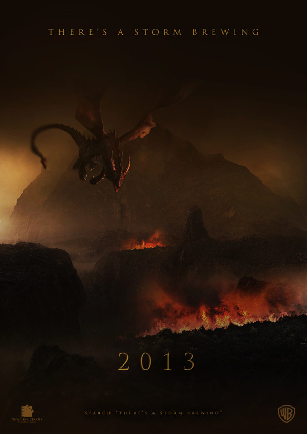 night-furies:  b4thebang:  The Desolation of Smaug Poster  This is fan-made, everyone c: