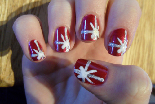 Christmas nails part 1 by jana7800 on Flickr.
