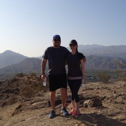 Hiking the cross in Palm Desert