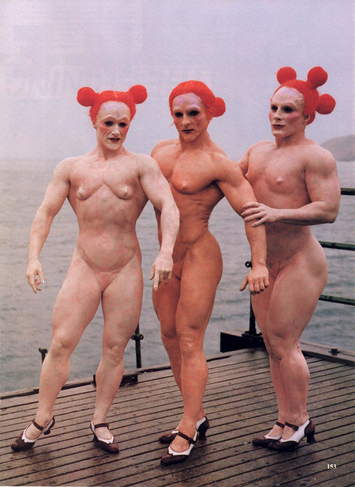 Three Redheads (from Cremaster 4 by Matthew Barney)