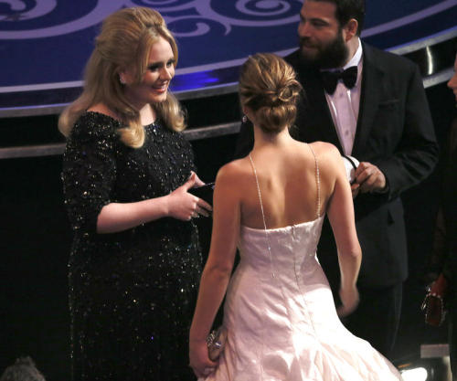 fuckyeahadele:  Adele and Jennifer Lawerence