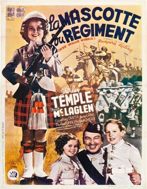 French poster for Wee Willie Winkie, 1937.