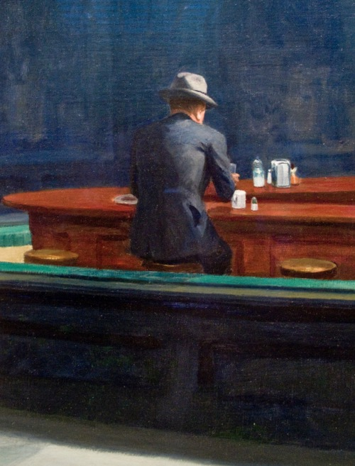 brazenswing:  Edward Hopper Nighthawks (detail) 1942