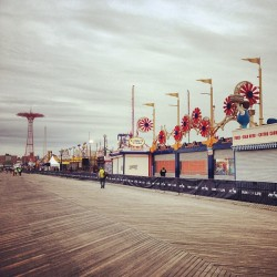 Hello from the #ConeyIsland  #BrooklynHalf Finish Line!