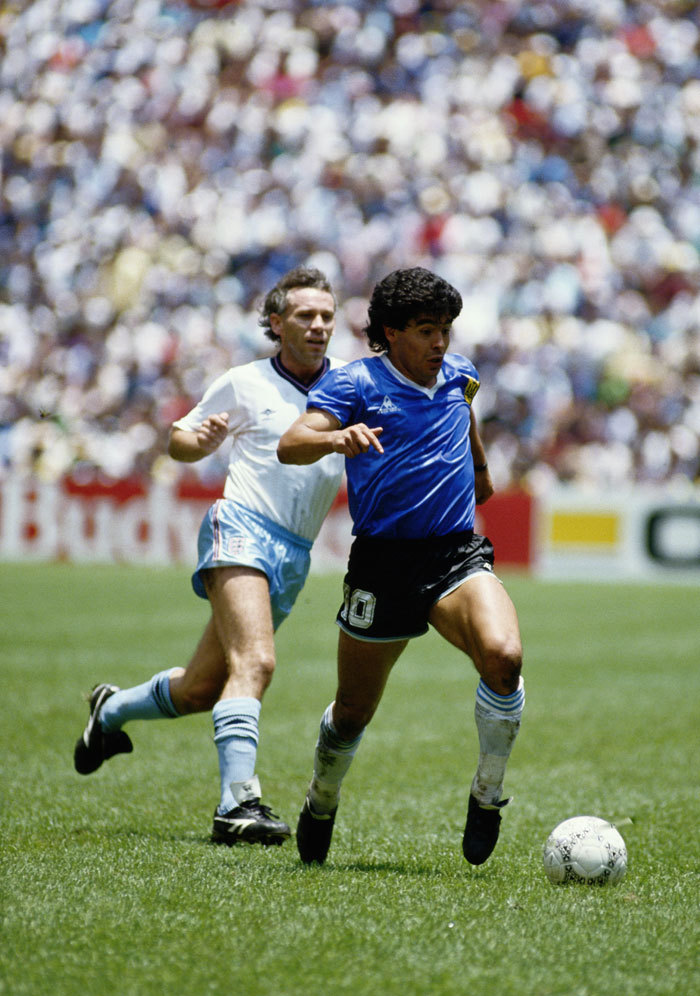 Maradona, making history at the Estadio Azteca, 1986. Source: Walla!