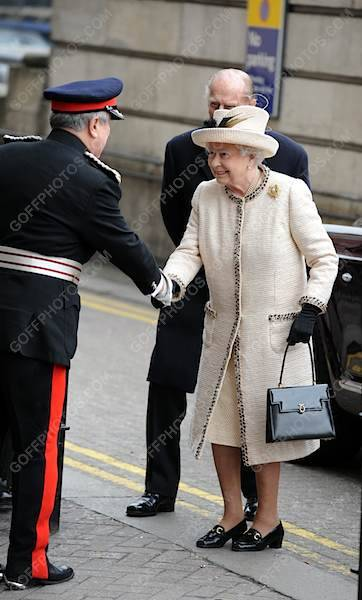 20th March 2013. British Royals Visit Baker Street Underground Station in London, UK.Pictured: Prince Philip, The Duke of Edinburgh and The Queen