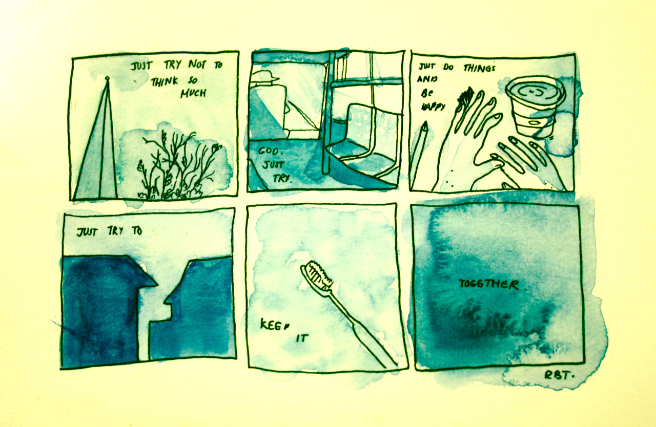 An uncomfortable doodle comic about feelings that come at the beginning of a year