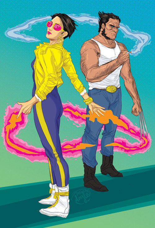 mingdoyle:   Jubilee and Wolverine, ~Dream of the '90s~