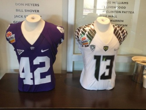 Oregon Ducks and Kansas State Wildcats Fiesta Bowl Jerseys [Photos]