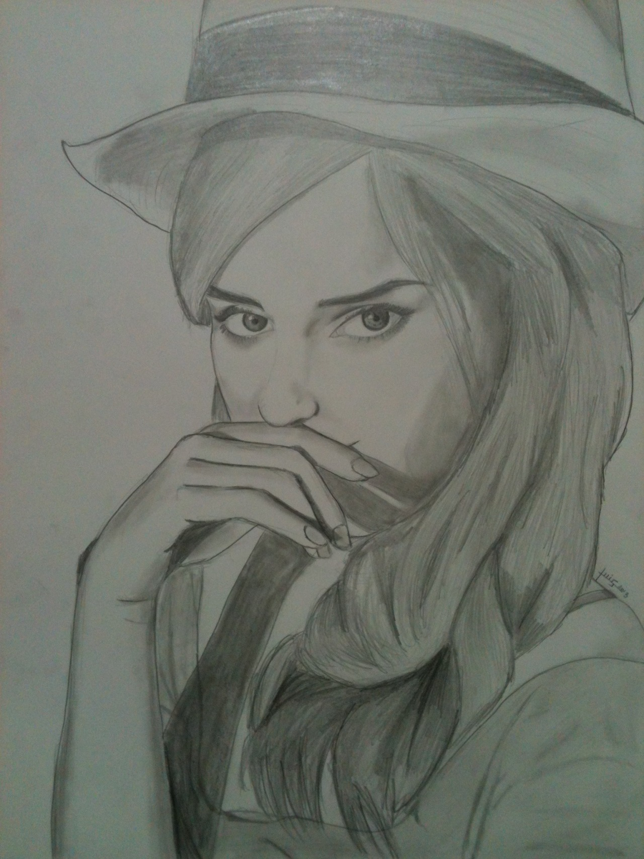 "Luis Jiménez Guevara, ""Emma Watson"", 2012, pencil on paper, 44 x 31,5 cm http://littlenewbornwolf.tumblr.com/ «i like to draw but my blog isn't an art blog»"