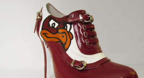 The Limited Edition Hokie Bootie.  This limited edition bootie is crafted in patent leather and leather accent featuring the confident and defiant HokieBird.