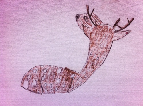 2013.5.5 Zoo sketching Deer  Drawing by Bonchan