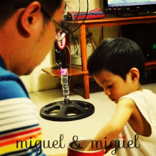 Alaminos 2013. Two kids,  two Miguels. Made with #typic #laguna #kids #bonding @guadaramos @migsffrancisco @emersondimaya