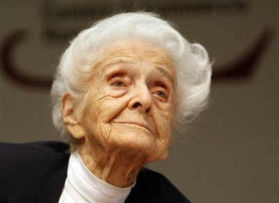 "neurosciencestuff:  'Lady of the Cells' Dead at 103 Italy has lost a truly fascinating centenarian. Nobel Prize winner Rita Levi-Montalcini died at her home yesterday at age 103, leading Rome's mayor to declare the scientist's death a loss ""for all of humanity."" It may not be much of an exaggeration: The so-called ""Lady of the Cells"" faced many obstacles, reports the AP: a father who believed women should not study (she ultimately obtained a degree in medicine and surgery), a Fascist regime (Levi-Montalcini lost her neurobiology job in 1938 when Jews were banned from major professions), and the Nazis, whose 1943 invasion of Italy forced her family to flee to Florence and live underground. But the petite woman's determination was formidable: In the face of the Fascist regime she studied chicken embryos in a makeshift lab in her bedroom. She chose not to marry or have a family—without hesitation or regret, she once said—fearing doing so would weaken her independence. She claimed to sleep no more than three hours a night, and worked well into her final years. That effort produced contributions that were just as formidable. Levi-Montalcini shared the Nobel medicine prize in 1986 with American biochemist Stanley Cohen for their groundbreaking cellular research. Her research increased the understanding of many conditions, including tumors, developmental malformations, and senile dementia. (Image: AP Photo/Riccardo De Luca)"