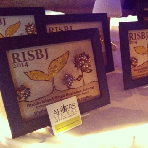 Congrats to all the winners of that @risbj Entrepreneurial Women to Watch Awards- especially @pvdladyproject's own @AlayneWhitespa! Love the awards done by our @ahlersdesigns!  (at The Dorrance)