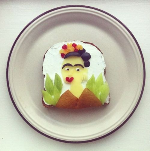 Art toast!  (via Ida Skivenes' Art Toast - Neatorama)