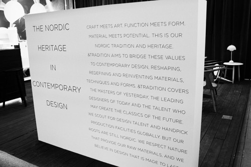 We agree with the Nordic Mantras. @ Stockholm furniture fair 2013