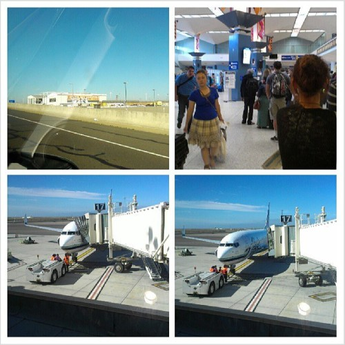 Just a group of pictures show my flight pulling out as I wave goodbye at my flight that was leaving without me. Now I have to take a non-direct flight. Smh … #oaklandairport #alaskaairline #smh #fml #badluck #alwayshappenstome #goodbye #herewegoagain #instagram #idoitfordabay