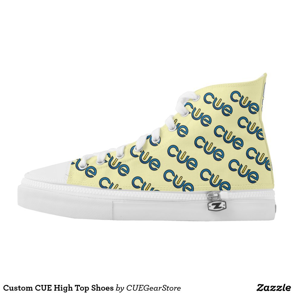 Custom CUE High Top Shoes - Unique Canvas Shoes With Interchangeable Tops  External image  Buy This Design Here: Custom CUE High Top Shoes Created by Fashion Designer: CUEGearStore Look sporty, stylish and elegant in a pair of unique custom sneakers! Each pair of custom Low Top ZIPZ Shoes is designed so you can fit your style to any wardrobe, mood, party or occasion. Fashionable sneakers for kids and adults, ZIPZ shoes give you a unique and personalized way to express yourself!Custom CUE High Top Shoes Product Information - Unisex sizing: 4-13 Men's | 6-15 Women's - Material and fabric: Durable canvas tops, rubber soles - Buy multiple pairs! ZIPZ shoes are interchangeable, the top cover can be zipped on and off so you can easily switch up your style on the go - Rubber soles are manufactured with extra cushioned insoles and a specially designed arch support system to give your feet a comfortable and healthy fit - Quality you can trust: ZIPZ has been independently tested by SATRA for wear, use, and durability - Additional cost for designing on the tongue of the shoe - Custom CUE High Top Shoes are printed in Santa Fe Springs, CA #sneakers#shoes#footwear#style#fashion#sports#fashionista#OOTD#streetwear#fashionblogger