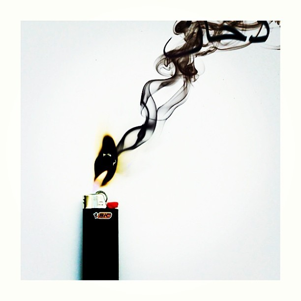 identityink:  #bic #lighter #fire #smoke #whatyoudowithyourlighterisyourbusiness