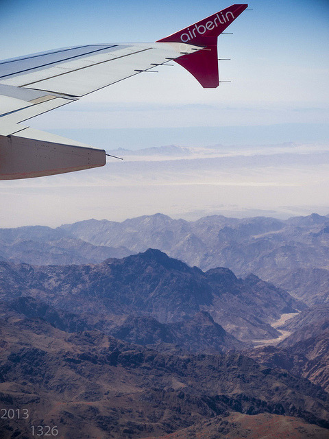 Diving in Sharm el Sheikh on Flickr.Flying over the desert, landing soon.