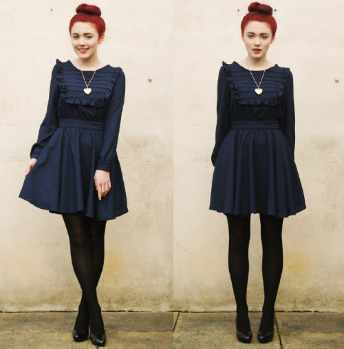 lookbookdotnu:  The weather's chilly & the dresses frilly. (by Megan McMinn)
