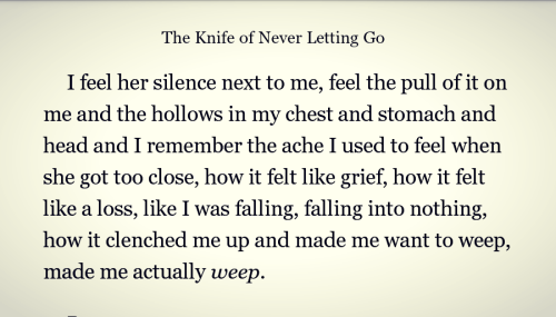 thegirlwithnonoise:  Favorite Quotes: Chaos Walking; The Knife of Never Letting Go