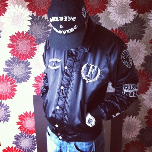 OUR SATIN OFTC STADIUM JACKET IS ONLINE NOW!! www.store.fresh2defclothing.com #f2dclothing #f2d #fresh2def #satin #jacket #outnow #streetwear #snapback #starter #instafashion #winter #oftc #cool #dope #swag #style #streetfashion