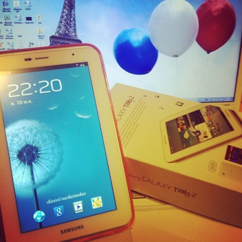 My new toy^^ thx G'mom #galaxitab #samsung